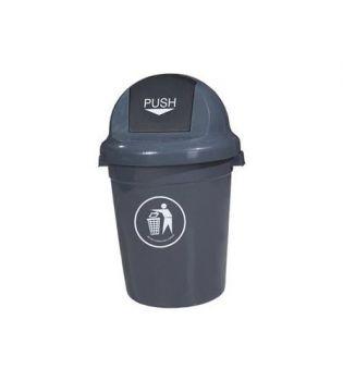 Κάδος πλαστικός με καπάκι push 80 lt